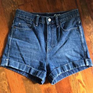 High waisted denim shorts 👧